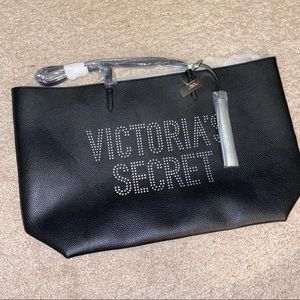Victoria's Secret Black Tote Bag NWT